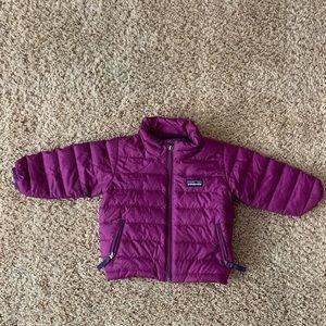 Patagonia plum kids puffer jacket